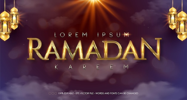 Ramadan kareem-stijlillustraties
