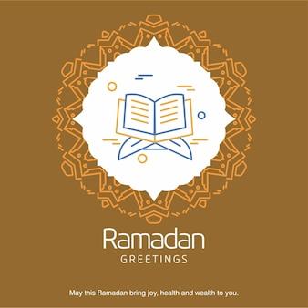 Ramadan kareem vector greeting card achtergrond