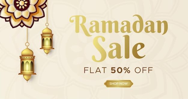 Ramadan kareem verkoop banner