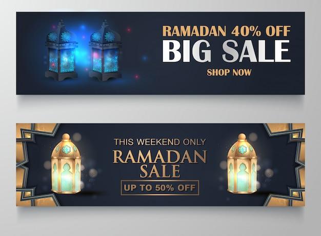 Ramadan kareem verkoop sjabloonontwerp