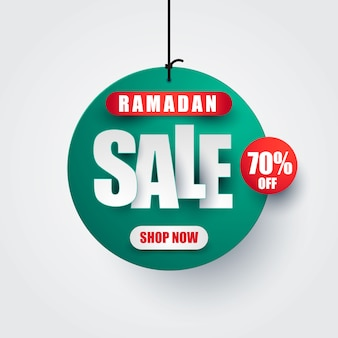 Ramadan kareem verkoop vectorontwerp