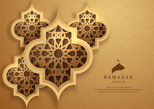 Ramadan kareem-wenskaart