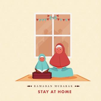 Ramadan kareem-wenskaart.