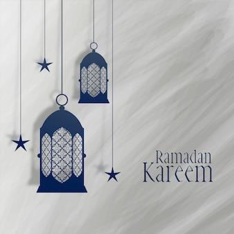Ramadan-kareemlantaarn en sterdecoratie