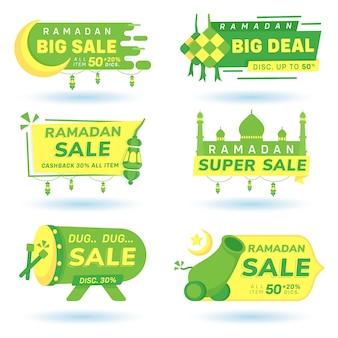 Ramadan korting banner pictogram bundel verkoop