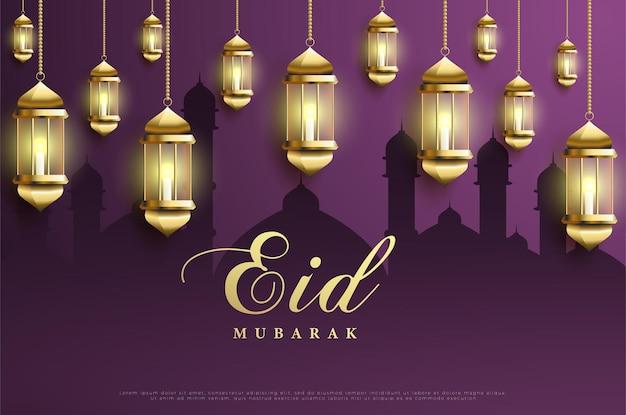 Ramadan met hangende lantaarn.