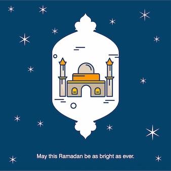 Ramadan moskee achtergrond