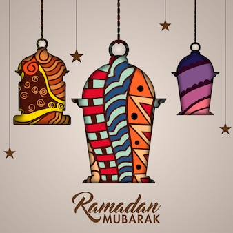 Ramadan mubarak concept