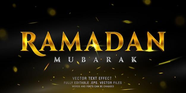 Ramadan mubarak filmische tekststijl effect sjabloon
