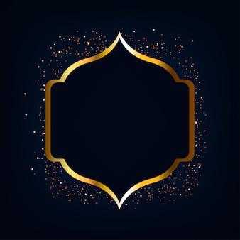 Ramadan mubarak goud glitter achtergrond