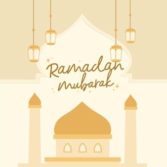 Ramadan mubarak illustratie