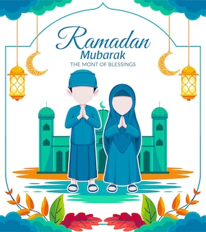 Ramadan mubarak islamitische achtergrond