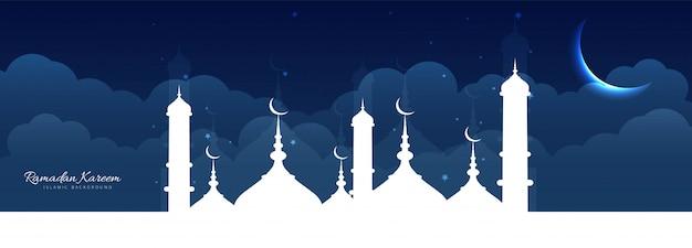 Ramadan mubarak sjabloon voor spandoek
