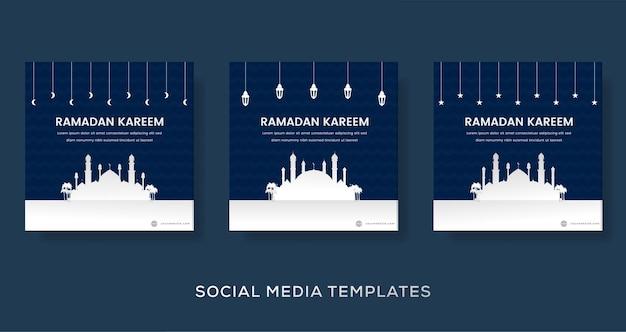 Ramadan mubarak-sjabloon voor spandoek