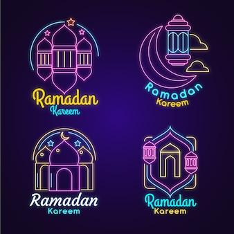 Ramadan neon sign collectie