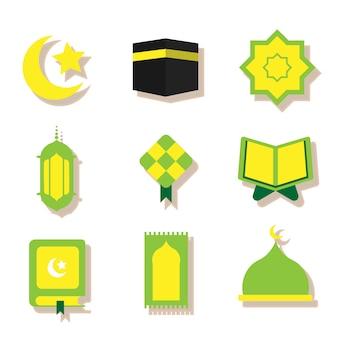 Ramadan plat groen pictogram