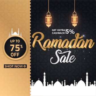 Ramadan seizoen posterontwerp met lantaarn