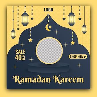 Ramadan sociale media sjabloon voor spandoek