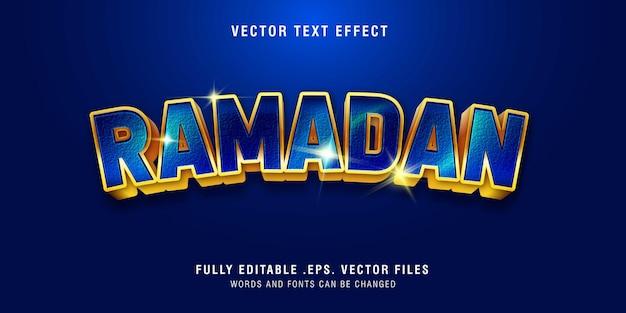 Ramadan-tekststijleffect volledig bewerkbaar