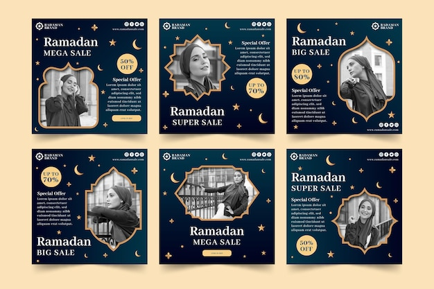 Ramadan verkoop instagram posts collectie
