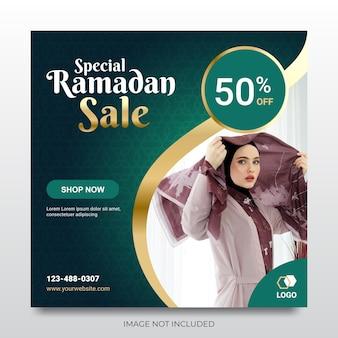 Ramadan verkoop promotie sociale media post banner
