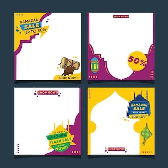 Ramadan verkoop. sjablonen voor instagram feed na de verkooppromotie