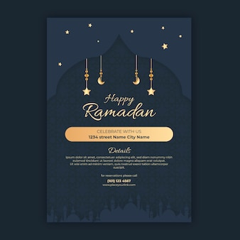 Ramadan verticale flyer-sjabloon