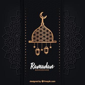 Ramadanachtergrond met verschillende lampen