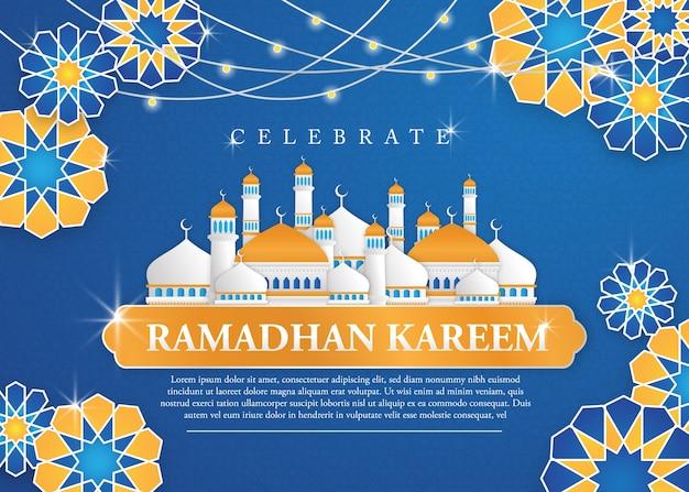 Ramadhan kareem achtergrond sjabloon