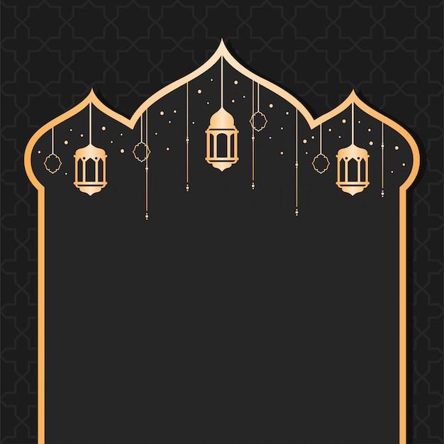Ramadhan kareem achtergrondontwerp