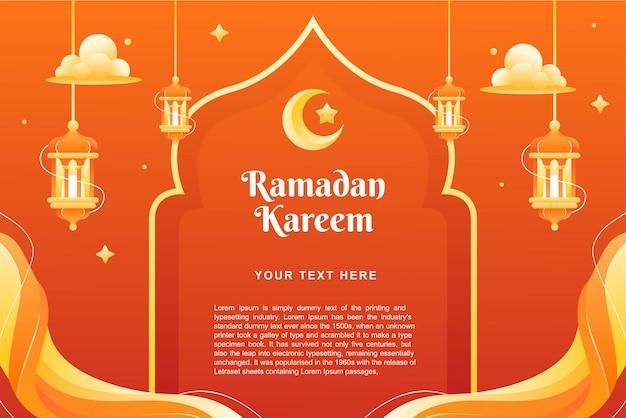 Ramadhan kareem-thema-achtergrond en banner sjabloonontwerp