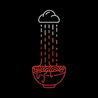 Ramen in de regen