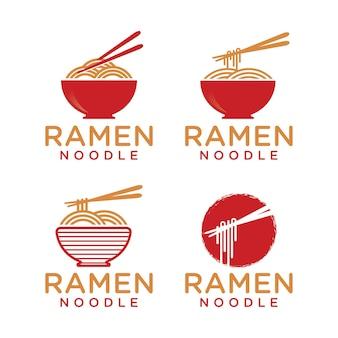 Ramen noodle logo sjabloon
