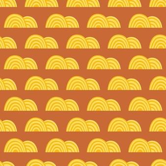 Ramen soep gele noedels aziatische levering van voedsel naadloze patroon textuur achtergrond verpakking