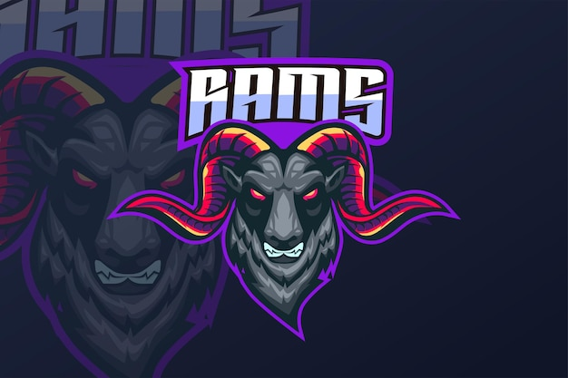 Rams - esport-logo sjabloon