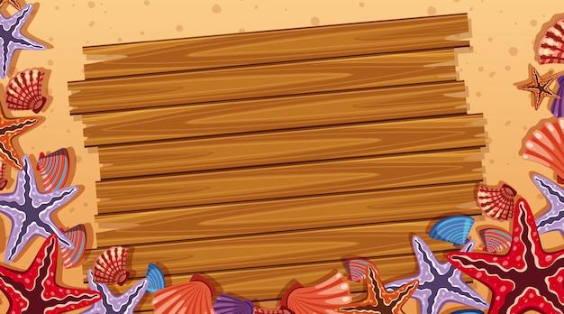 Rand sjabloon met strand scène