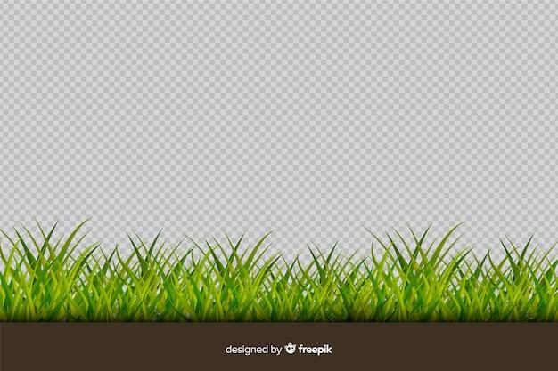 Rand van gras realistische stijl