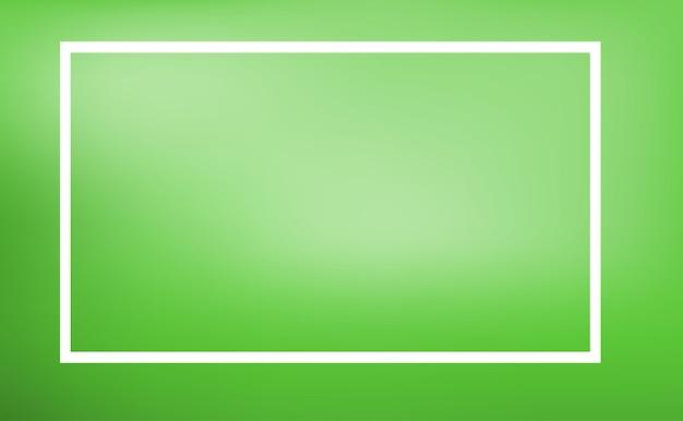 Randsjabloon met groene achtergrond