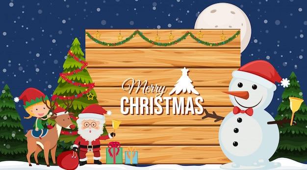 Randsjabloon met kerstmis