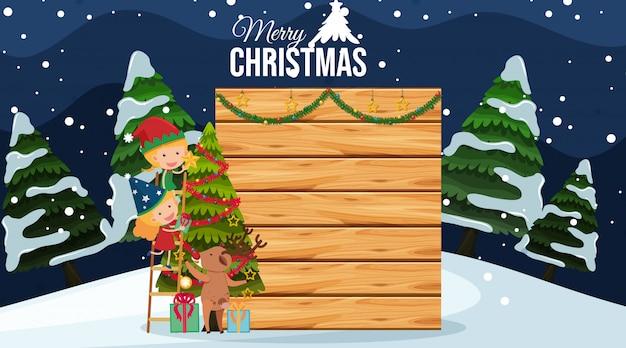 Randsjabloon met kerstthema