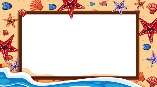 Randsjabloon met oceaan