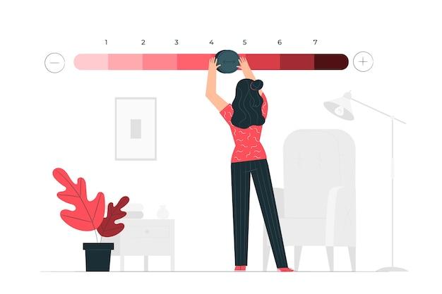 Rangen concept illustratie