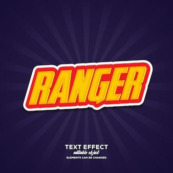 Ranger eenvoudig teksteffect met moderne stijl