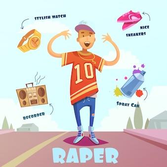 Raper character pack voor de mens