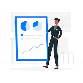 Rapport concept illustratie