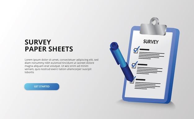 Rapport klembord landmeter examen document om lijst checklist te doen