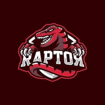 Raptor mascotte logo ontwerp