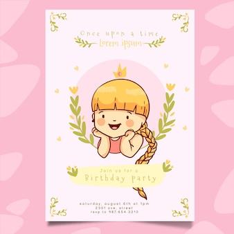 Rapunzel verjaardagsuitnodiging