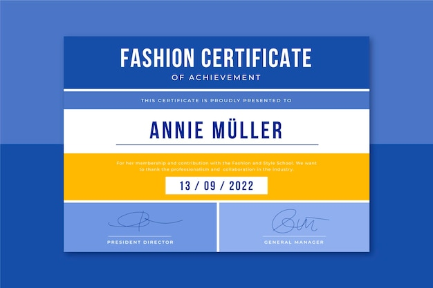 Raster mode certificaatsjabloon