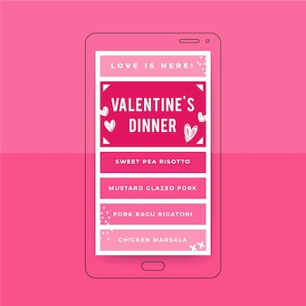Raster valentijnsdag instagram verhaalsjabloon